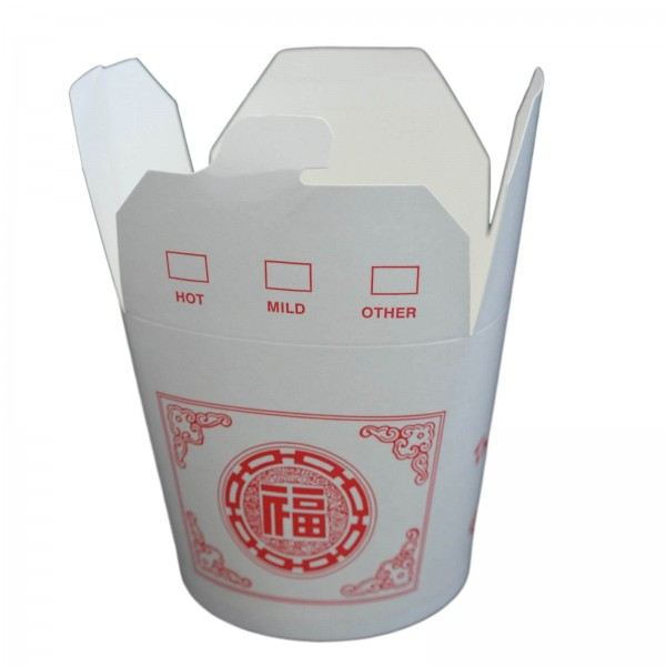 Papp Chinabox Foodcontainer rund mit Druck