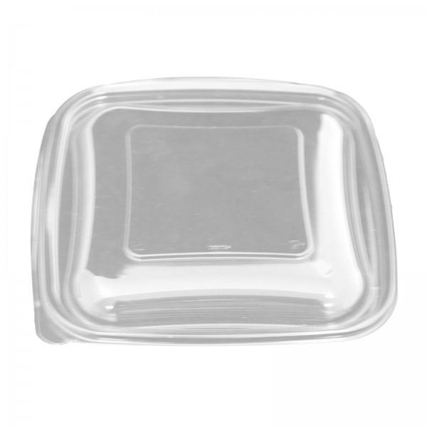 Transparenter Salatschalendeckel PET 190 x 190 x 17 mm