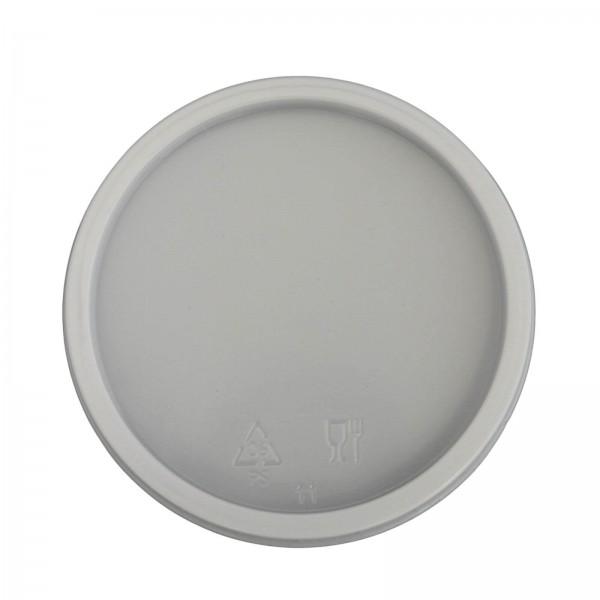weißer Deckel für Trinkbecher 0,2 l (Ø 70,3 mm) ohne Kreuzschlitz