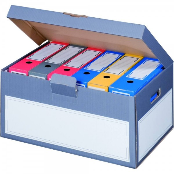 Color Archiv-Box Ordner,Klappdeckel anthrazit