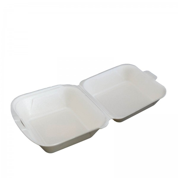 Thermo-Klappbox Hamburger Box EPS Styropor cream, 150 x 160 x 80 mm (groß) (IP6)