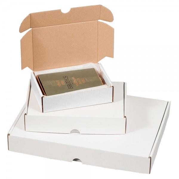 weißer Maxibrief Karton
