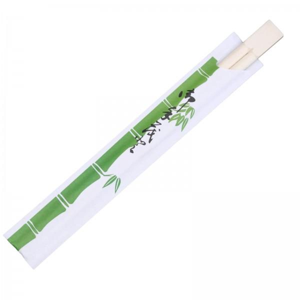 Bambus-Holz Einweg-Essstäbchen (China) gehülst 21 cm