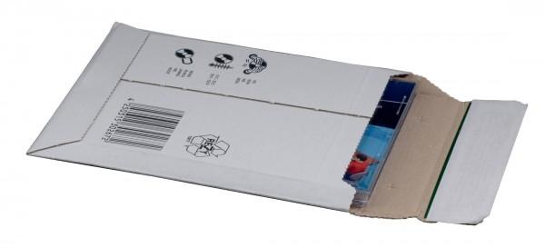 Versandtasche weiß aus Wellpappe CD