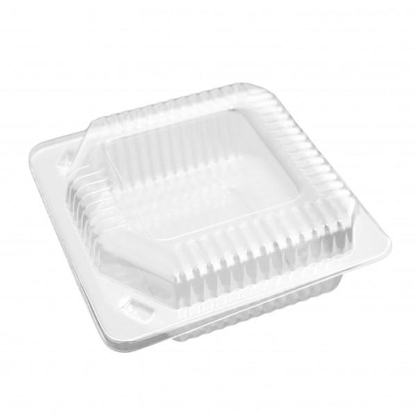 Transparente Salat-Klappbox OPS
