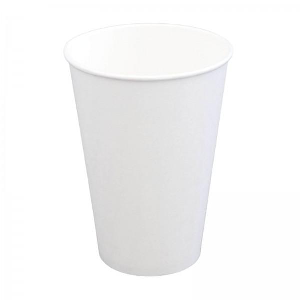 weißer Papp Trinkbecher