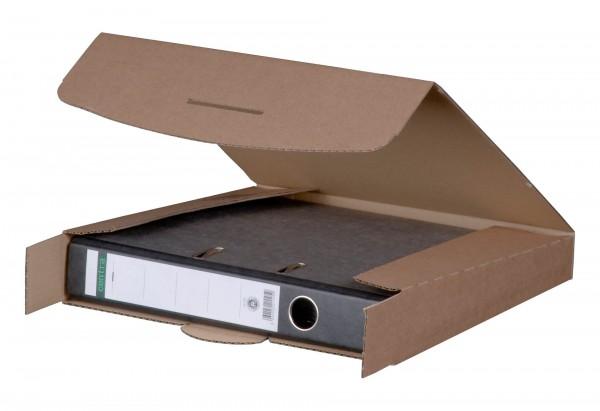 Ordner Versandverpackung wiederverschließbar braun