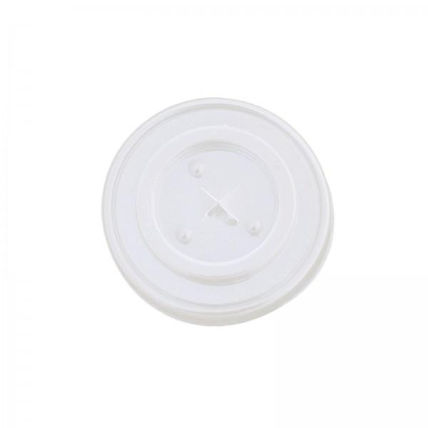transparenter Deckel für Trinkbecher mit Kreuzschlitz aus PS (Cola / Shake) 0,3 l (Ø 80 mm)