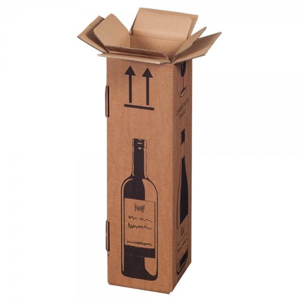 1er Flaschenkarton mit DHL-Zertifikat (PTZ) 105 x 105 x 420 mm